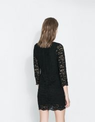 ASOS Inspired Pure color Long Sleeves Lace Dress DRB