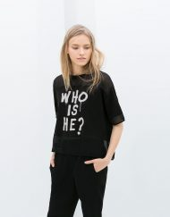 ASOS Inspired Letters Half Sleeves Casual Chiffon Patchwork T-shirts Tops