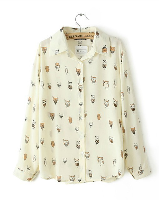 Animal Prints Casual Blouse leisure Shirt