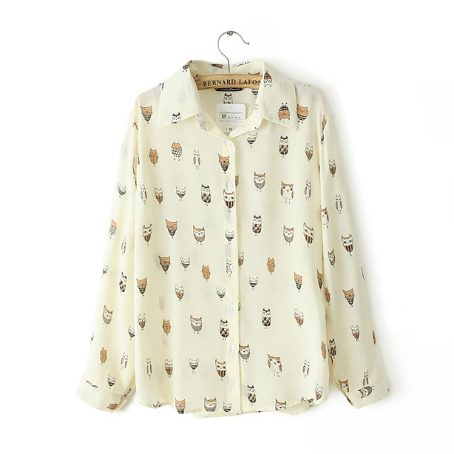 Animal Prints Casual Blouse leisure Shirt