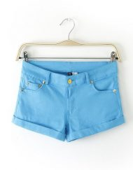 Candy Color Casual Shorts Pants