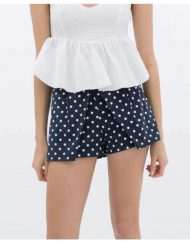Dots Prints Casual Shorts Skirts with Bows Pants