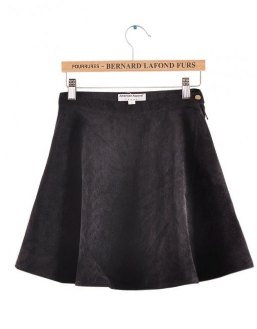 High-waist Corduroy Circle Skirt S-O