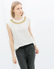 O-Neck Beautiful Pearl Necklace PrintsTops ASOS Inspired T-shirt