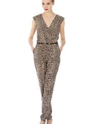 High Quality Leopard Prints Leisure Jumpsuits with Belts ASOS Inspired Pants Trousers -