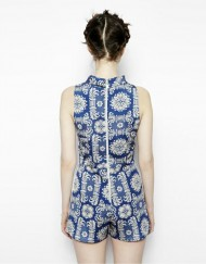 Oriental Prints Leisure Short Jumpsuits ASOS Inspired Pants Trousers TW-