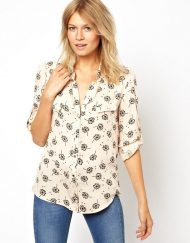 Woman Dandelion Flower Printing Casual Blouse leisure Shirt