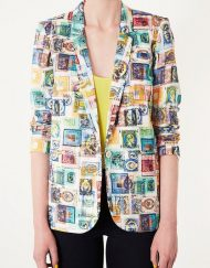 Woman Stamps Prints Blazer Casual CoatSlim fit Suit BL