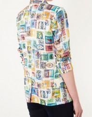 Woman Stamps Prints Blazer Casual CoatSlim fit Suit BL