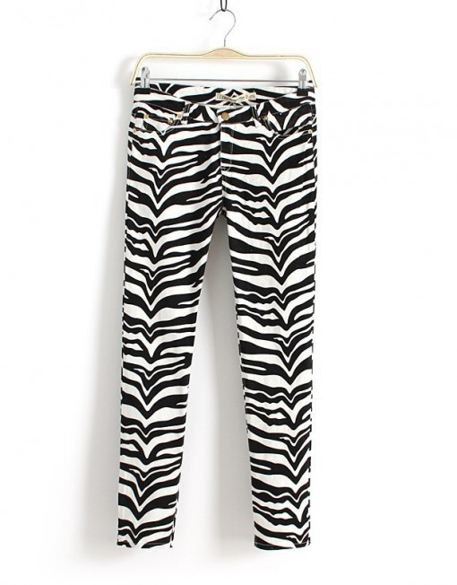 Woman Zebra Prints Skinny Pencil Trousers ASOS Inspired Pants -