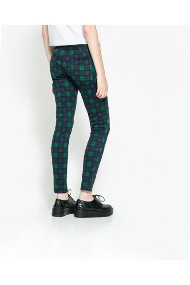 Colors Checkers Pattern Elastic Skinny Pants ASOS Inspired Casual Pencil Trousers -