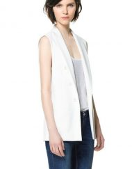 Basic Pure Color Double-breasted Vest ASOS Inspired Coat BL