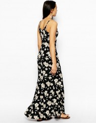 Bohemian Style Floral Printed Straped Long Dress ASOS Inspired Summer Dress