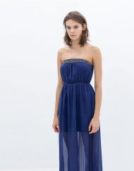 Bohemian Style Strapless Long Dress with Rhinstones ASOS Inspired Summer Dress