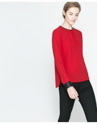 Brief Style Solid Cotton Blend Blouse Leisure Shirt