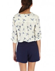Butterfly and birds Hot Stamping Prints Leisure Blouse ASOS Inspired Shirt -
