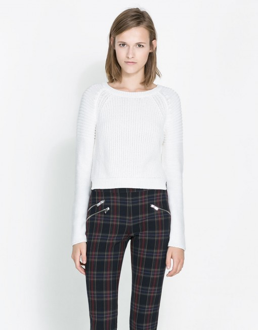 CROPPED KNITTED SWEATER ASOS Inspired Casual Knitwear -