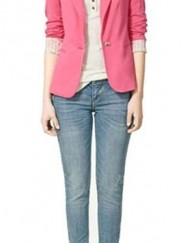 Candy Color Slim fit design One Button Blazers ASOS Inspired Stylish Suits BL