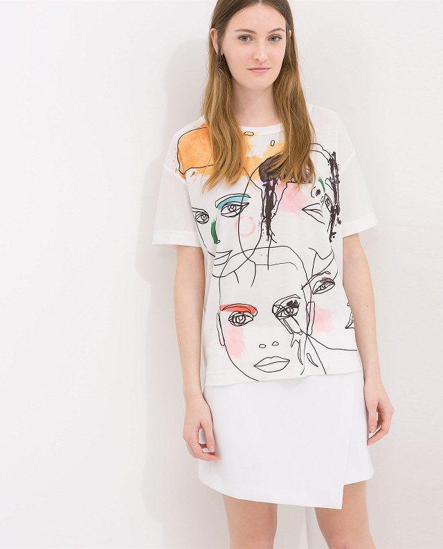 casual baikal printed girls short sleeves chiffon tshirt avery couture