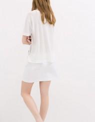 Casual Baikal Printed Girls Short Sleeves Chiffon T-shirt