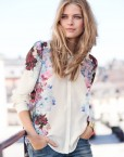 Casual Flower prints Chiffon Shirts Blouse I