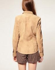 Casual Pure color Slim fit design Deer Velvet Blouse ASOS Inspired shir-