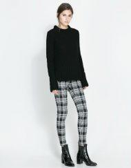 Checkers Pattern Elastic Skinny Pants ASOS Inspired Casual Trousers -