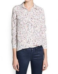 Colored Stars Prints Casual Chiffon Blouse leisure Shirt-