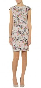 Top Shop Inspired Birds&Flowers Printed O-Neck Above knee A-Line Dress