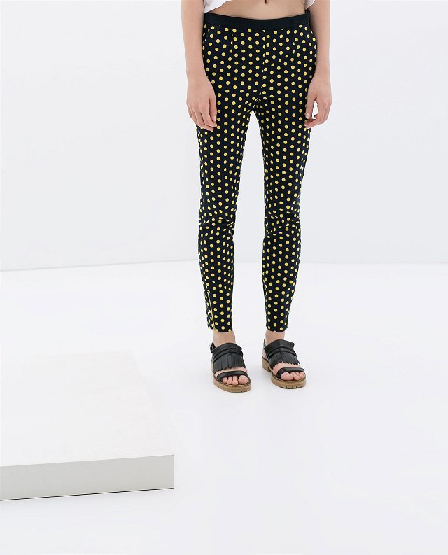 Dots Printed Pencil Trousers ASOS Inspired Skinny Pants TW-
