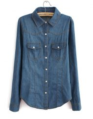 Denim Shirts ASOS Inspired Casual Jeans Blouse -