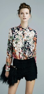Flower Prints Casual Shirts Blouse J