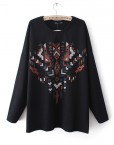 Geometric peach heart Prints Hoodies ASOS Inspired Casual Tops -