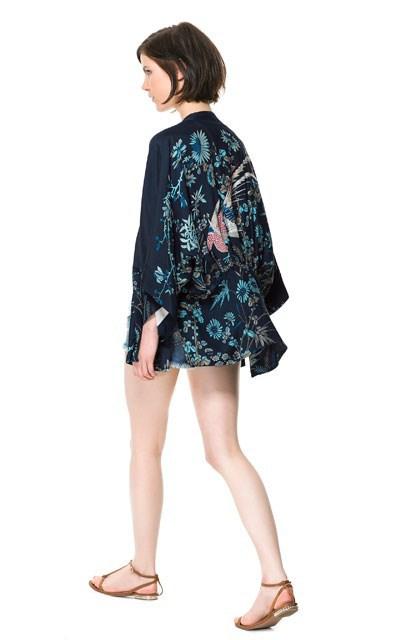 Phoenix Prints Kimonos Loose Coats Outerwear BL