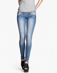 Strenched Pencil Pants Denim Trousers -