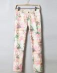 Floral Prints Casual Strench Pencil Trousers Pants -