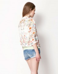 Forever Young Flower Printed Sports Jackets Cool Coats BLQ-
