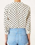 Hearts Prints Casual Blouse Brand Shirt -