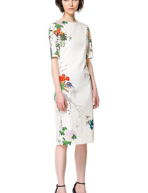 Oriental Flower Printed Cheongsam Dress ASOS Inspired Slim fit Dress DRB