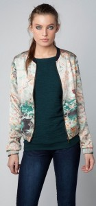 Oriental Mountain Flower Printed Zipper Bomber Jackets ASOS Inspired Coats BL