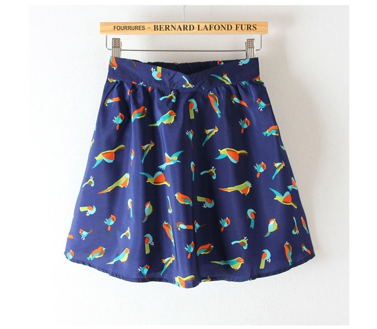 parrot prints pleated mini skirt avery couture