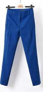 Pure Color Casual Pencil Trousers Pants -