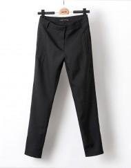 Pure Color Casual Pencil Trousers Pants -