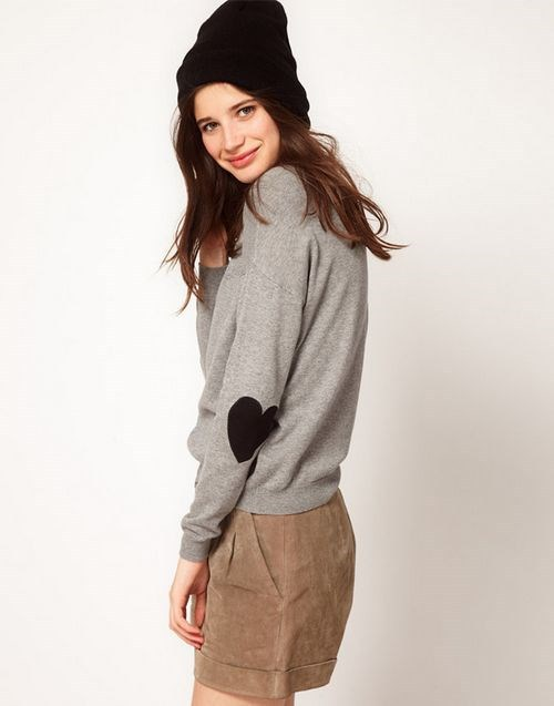 Pure Color Sweater with patch cloth ASOS Inspired Casual Knitwear -