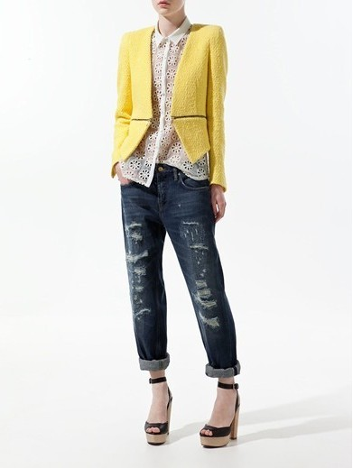 Pure color Zipper Sweep Blazers ASOS Inspired Casual Outwear BL
