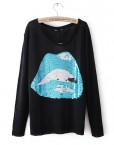 Shinning Big Mouth Sweater Knitwear