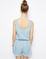 Sleeveless O-Neck Short Jumpsuits Girls Pants Trousers with Pockets&Sashes