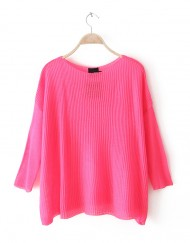 fluoresent Bright Color Batwing Sleeves Worsted Sweater ASOS Inspired Loose Knitwear -