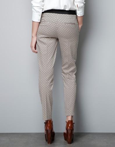 s European Style Black Waist Casual plaids Pencil Pants -