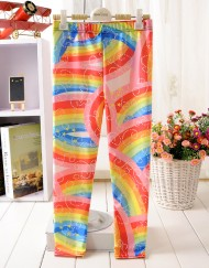 4-9Years Baby Girl Legging Children Pants Magic Rainbow Leggings Girls Leggings Kids Leggings Girls Cute Pants For Kids
